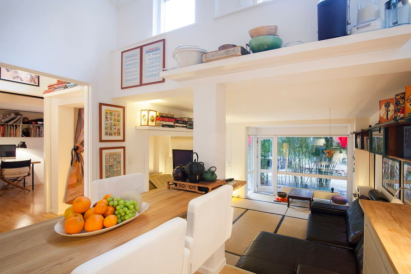The kitchen offers great view to all rooms