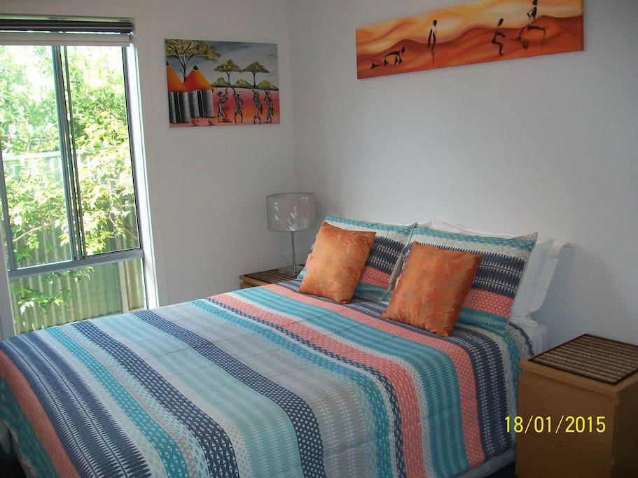 This listing:Bedroom with Queen sized bed