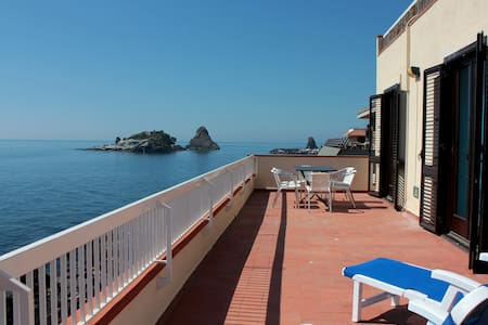 apartment on the sea and the cyclop - Aci Trezza