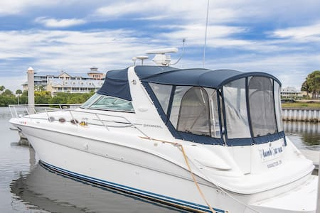 Waterfront Romantic Boat Getaway - Private Beach - Ruskin - Hajó