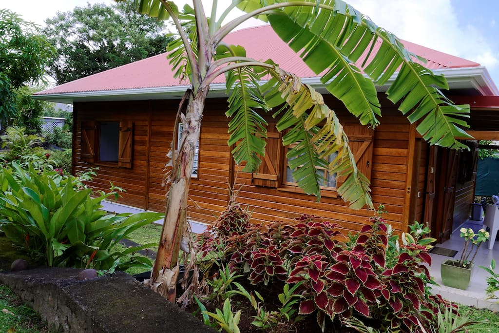 G te de charme et jardin tropical houses for rent in for Jardin tropical guadeloupe