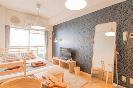 ★2ppl Self check-in★Shinsaibashi Central Apt #6 - Wohnung