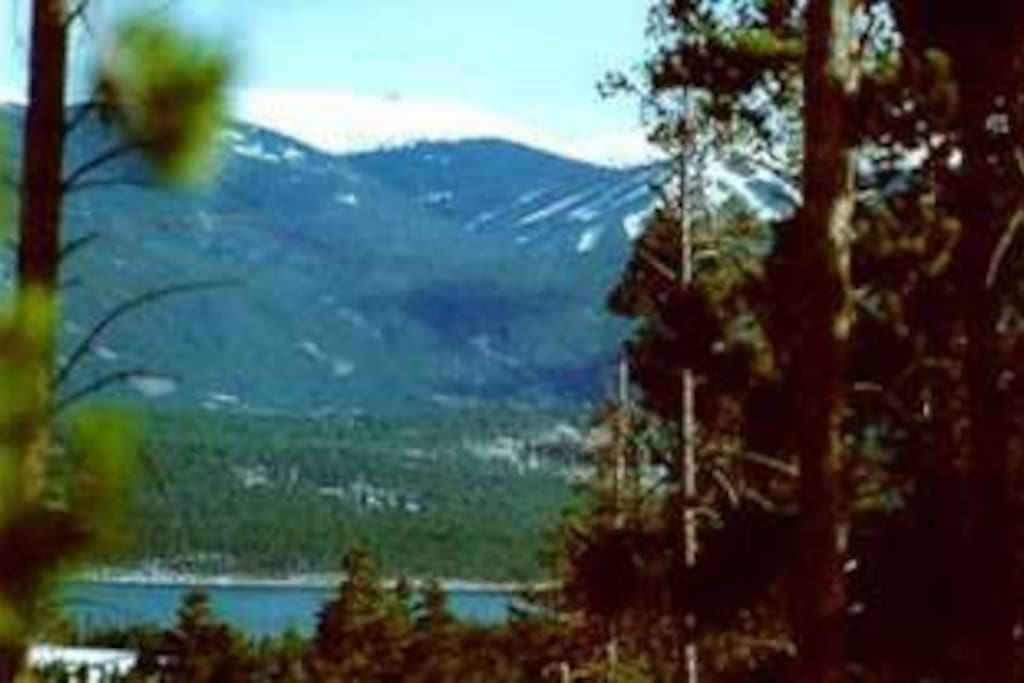 Great views from the deck of Lake Dillon and Keystone ski resort