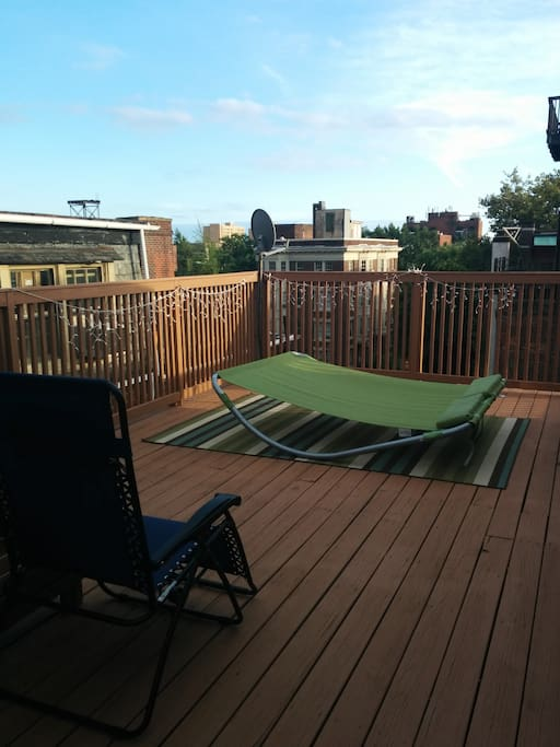 Private deck.  Great views.
