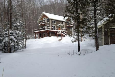 Nestled in the woods. - Lake Placid - Hus