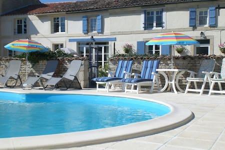 Two Double Bedrooms -  La Maison des Tournesols - Vallans