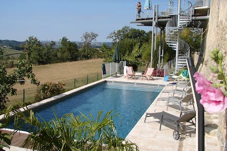 Sunny farmhouse with private pool - Lunac - Dom
