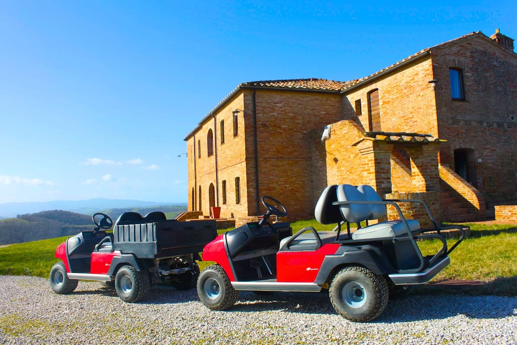 Golf Cars available to our guests to go around the estate