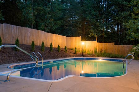 Pool & Hot Tub | Comfy Asheville Mountain Oasis - Fairview