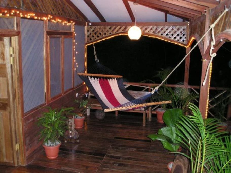 Hammock lounge area. Great place for bird watching. 2009