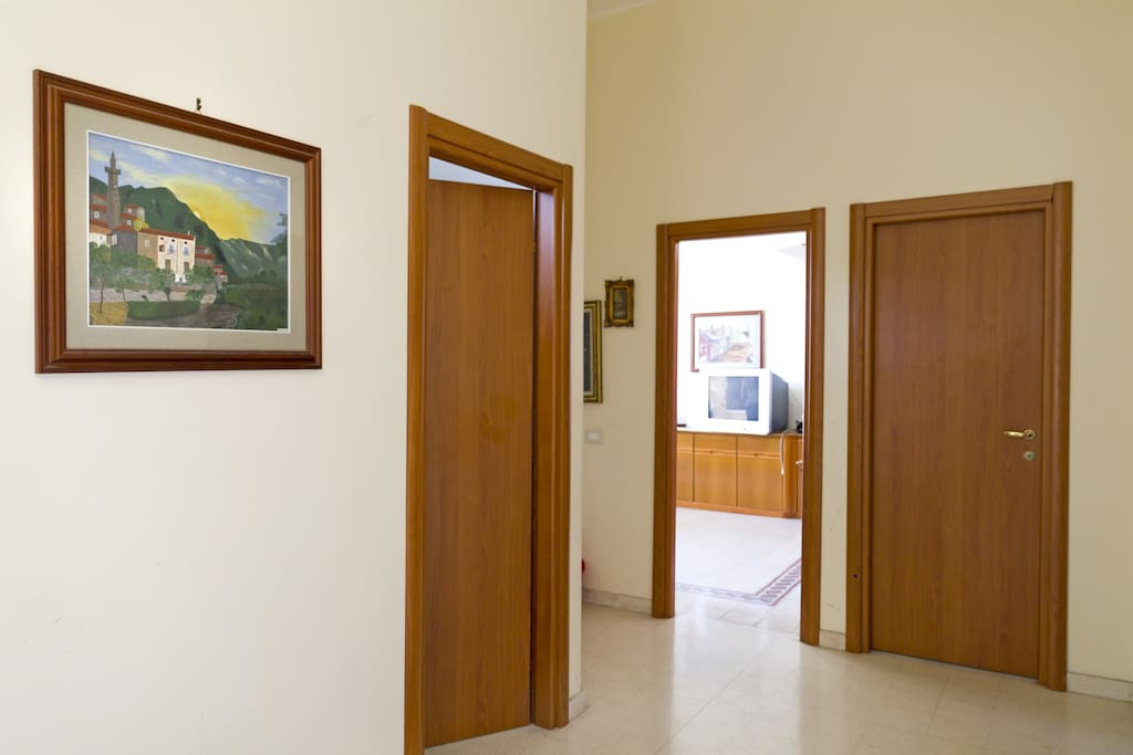 the entrance of the flat
