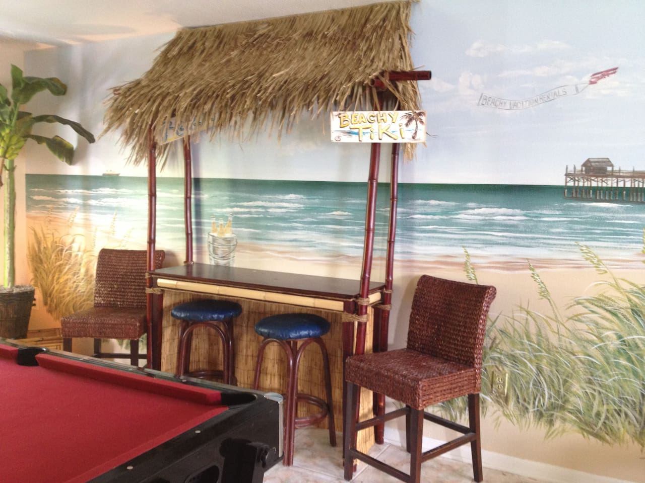 Tiki bar in game room