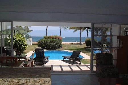 Direct Beachfront Villa PrivatePool - La Cruz de Huanacaxtle