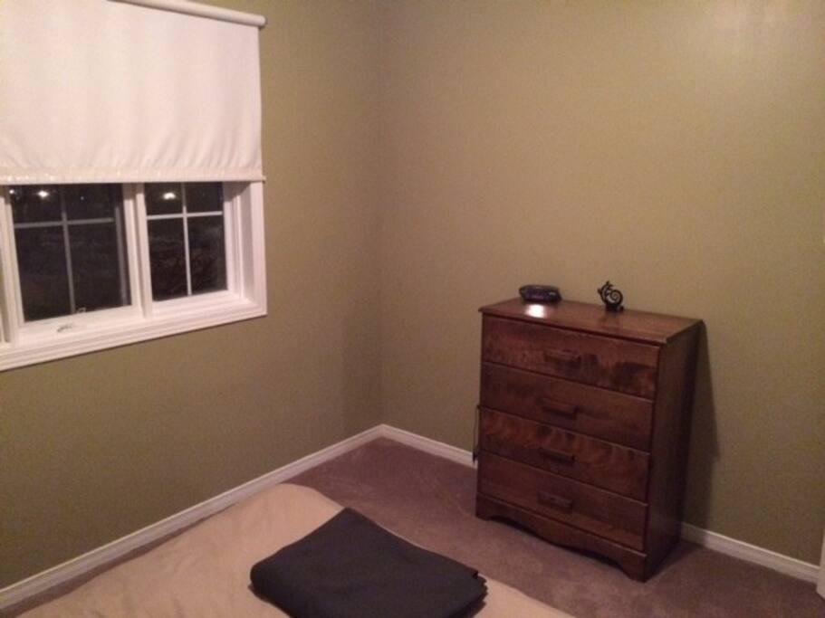 Dresser and closet space