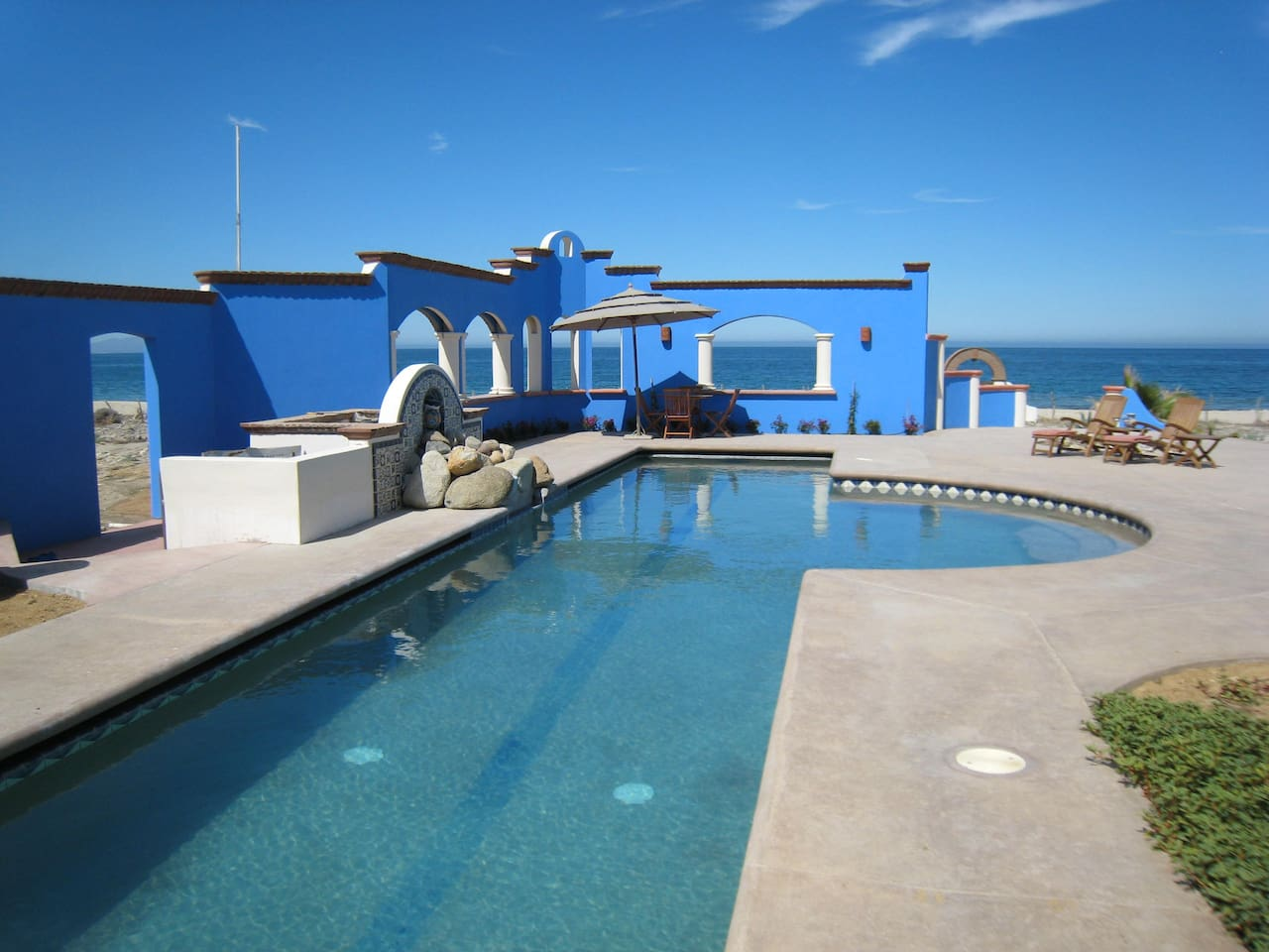 75 foot lap pool, with View of the Sea of Cortez