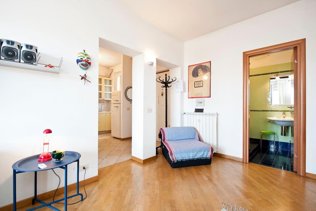 Terrace, A/C, Trastevere area for 4
