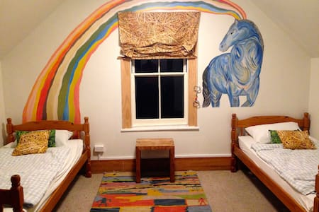 Blue Rider Room for horse lover - Takaka - Hus