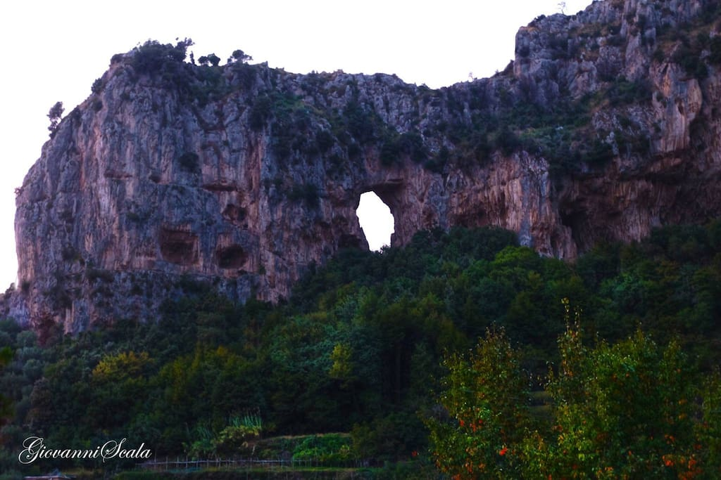 Mountain with a hole, from which derives the village's name, Montepertuso!!!