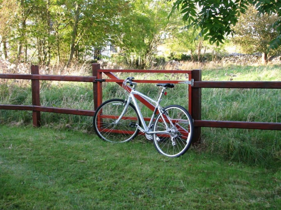 The farm roads are great for cycling and walking