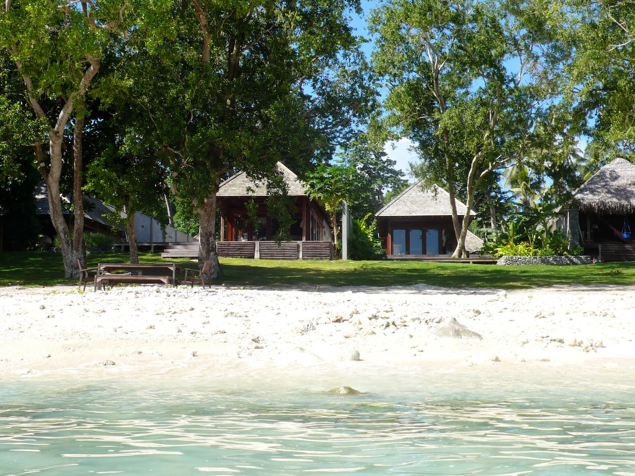 View of Kooyu Villas from beach