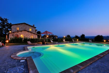 Tenuta Copio is a typical Umbrian villa and is located in a panoramic area, on the hills between Orvieto and Todi.  Our vacation rental has been recently fully restored, and has 5 well furbished apartments.