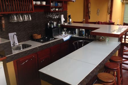 Private Rom!. Kitchen/bar - San Isidro de El General - Townhouse