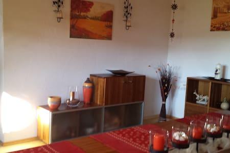 ruhige EG-Ferienwohnung m. Terrasse - Tussenhausen - Apartemen