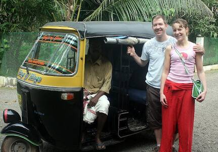 Rickshaw (Tuk-Tuk) ride in Kerala