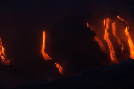Lava is flowing, Ecko's Ohia Hale - Pāhoa