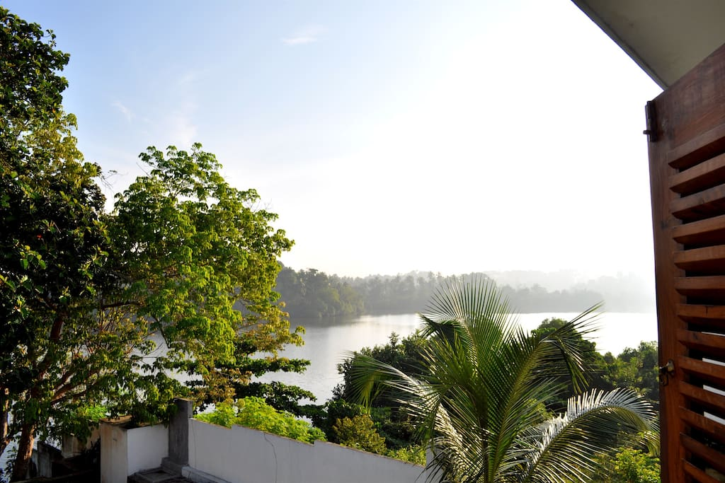 View from master double bedroom across Bird Lake