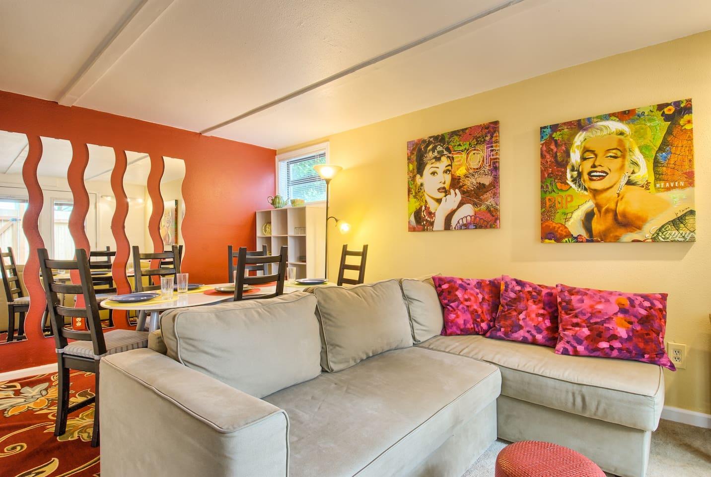 Fun remodled apartment in Ballard neighborhood in Seattle.