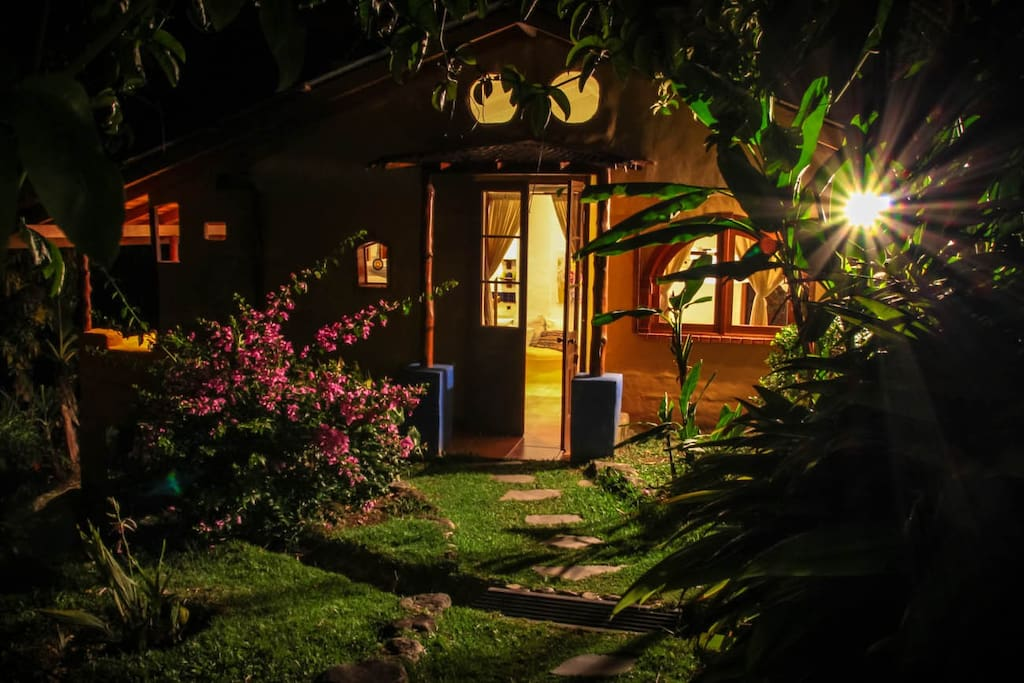 View of the Casita at night
