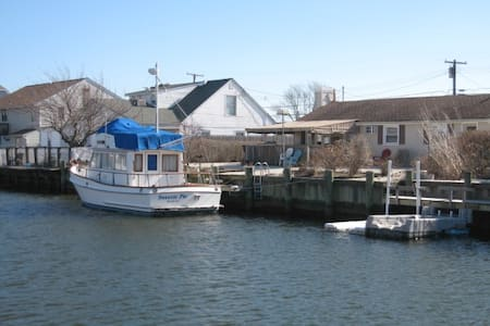 Waterfront w/boat ramp. 2 BR/1 Bath - Berkeley Township - Haus