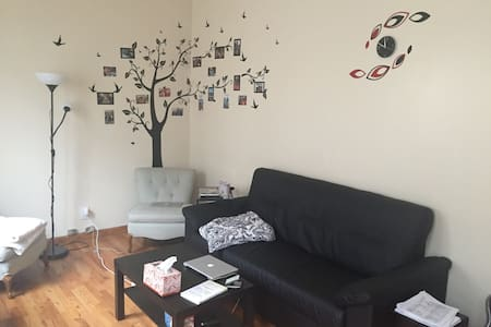 Large & Cozy 1BR near train station - Brooklyn - Apartment