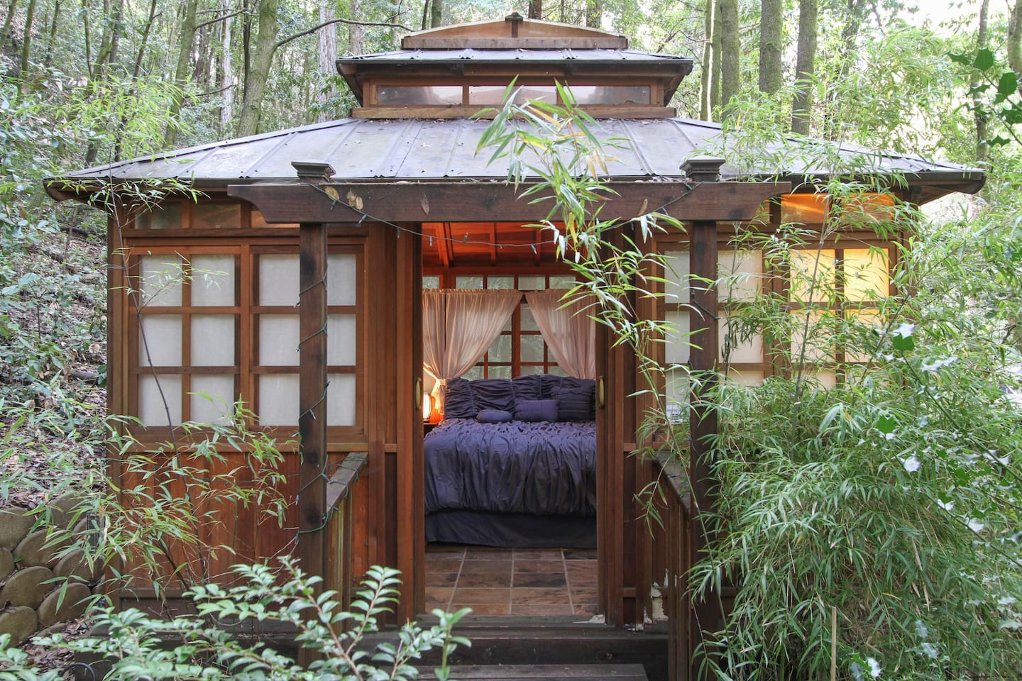 Relax under the Redwoods in the Teahouse!
