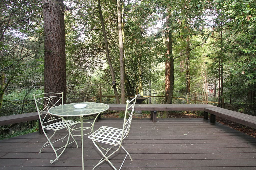 Seating Under the Redwoods!
