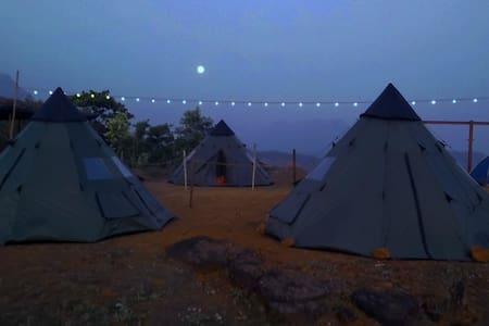 Peponi Mulshi,TentCamping,Lake,BBQ, - Sátor