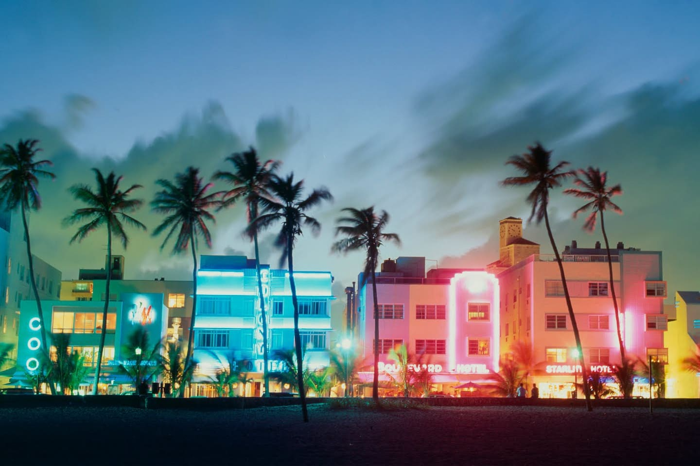 On the beach in the heart of Art Deco district right on Ocean Drive as shown on picture