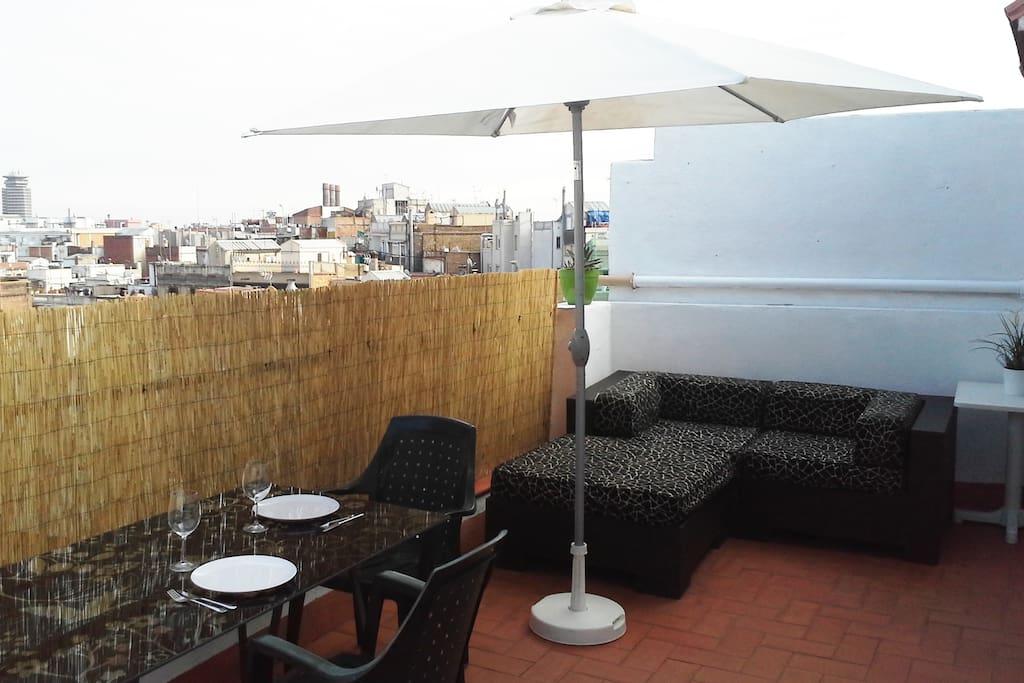 Penthouse w/ terrace in downtown.