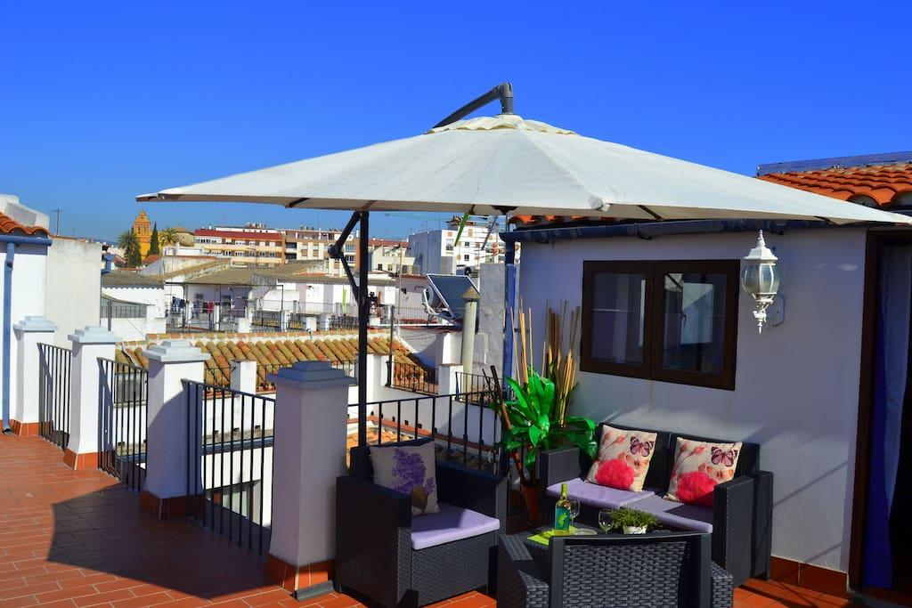 Terraza privada de uso exclusivo para la Suite... Private terrace only for you!