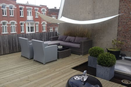 renovated apt. with roofterrace