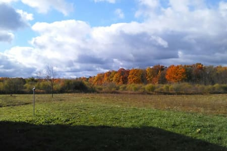 Cabin on 30 acres of farm land. - Burdett - Kulübe