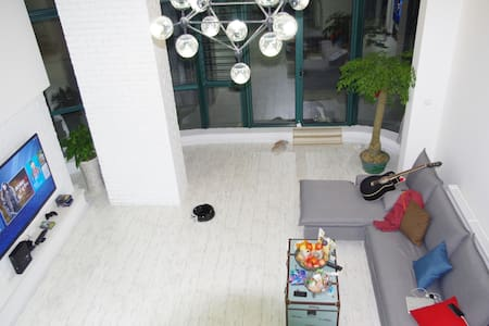New decorated loft with privat yard