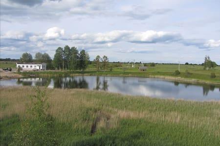 Уединенный гостевой дом с озером и рыбалкой - Gæstehus
