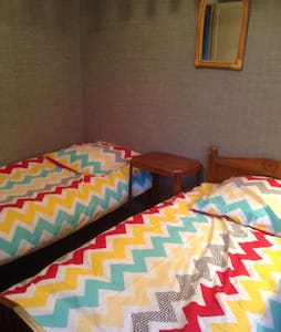 Double bedroom with two single beds - Feytiat - Bed & Breakfast