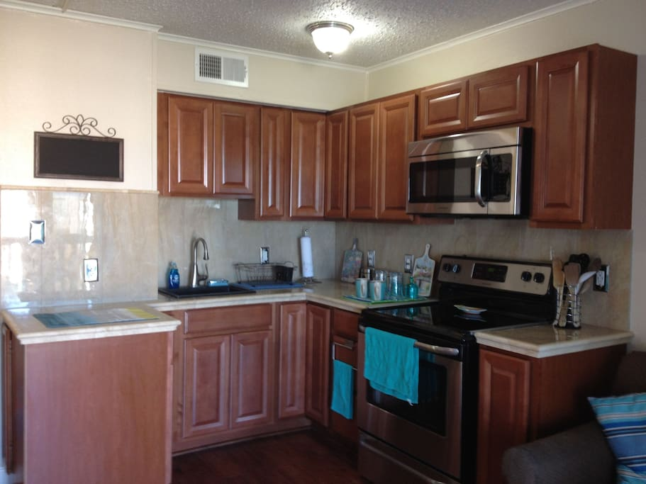 Fully renovated and equipped kitchen. Brand new stainless steel appliances. Everything you need and more...