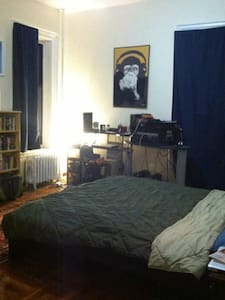 Private room for 2 in cool BK apt