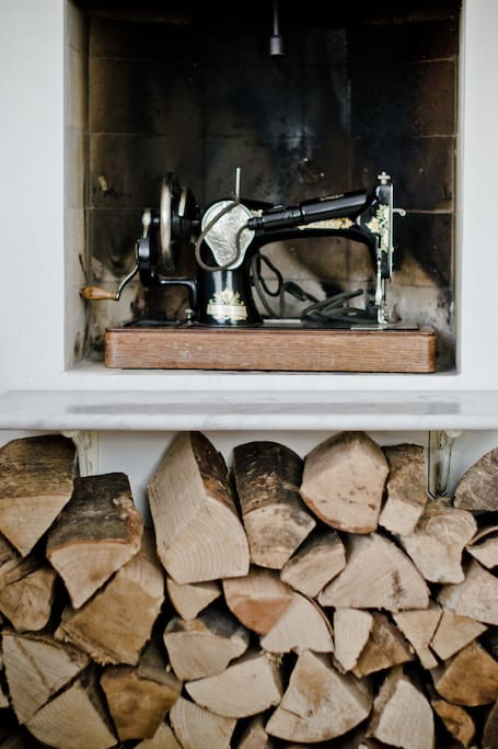 Working fireplace and firewood..sometimes even useful in the summer here!