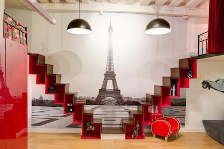 small loft in center of paris