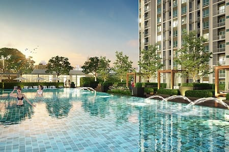 3 min to MRT Brand new luxury grand living - Kondominium